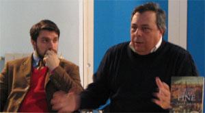 Alessandro Moriccioni e Sigismondo Panvini durante la conferenza