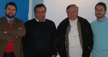 Da sx Moriccioni, Panvini, Marino e Somma