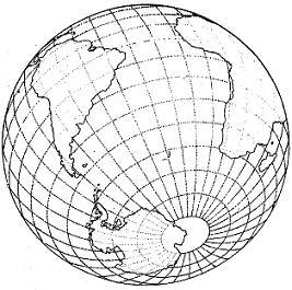 Speculazione raffigurante l'Antartide fuori del Circolo Polare