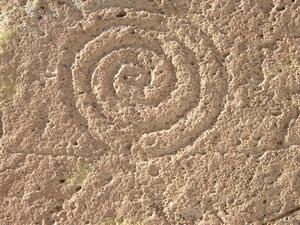 Spirale graffita nel Nuovo Messico
